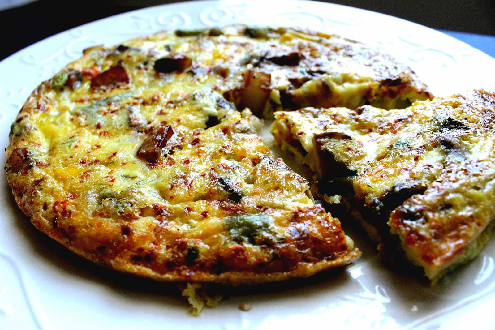 Frittata With Asparagus And Scallions Recipe — Dishmaps
