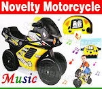 New Novelty Ride On Bike with Music & Light Sale!!!RM100 only.