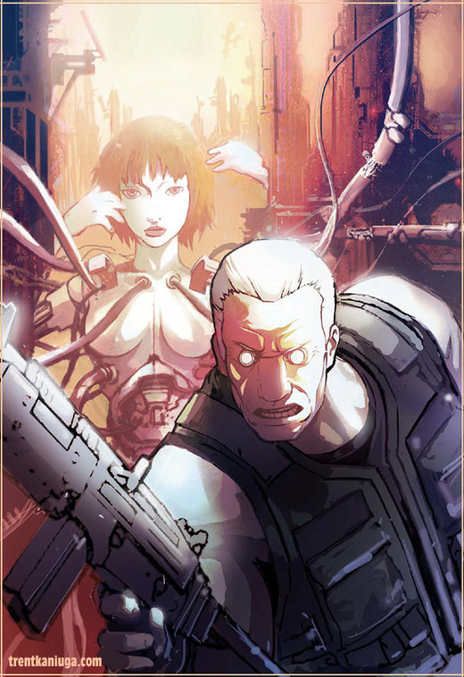 Ghost in the Shell 2 cover. por neocromagnum