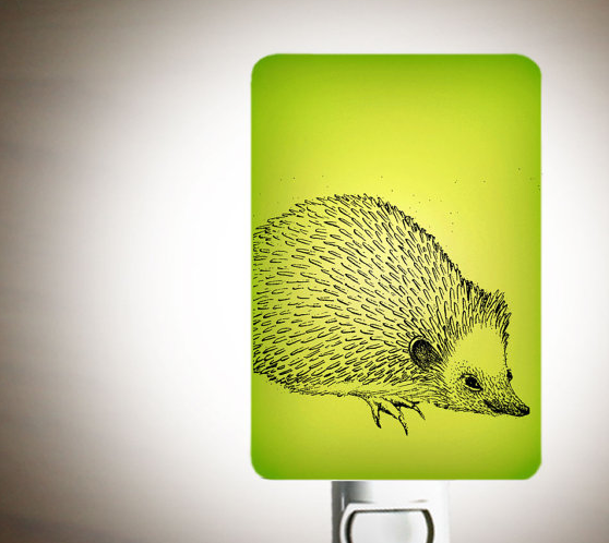 Lime Green Hedgehog Night Light