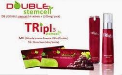 Pakej 2 kotak Double Stemcell + 1 Spray triple stemcell = RM350