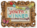 I'm a winner at Creative Corner Challenge