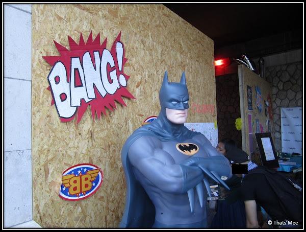Brunch Bazar Faust Paris Pont Alexandre III juin 2013 statue Batman