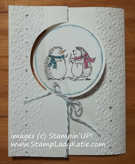Winter Card made with Stampin'UP!'s Hedgehog Stamps and Thinlit Circle Die