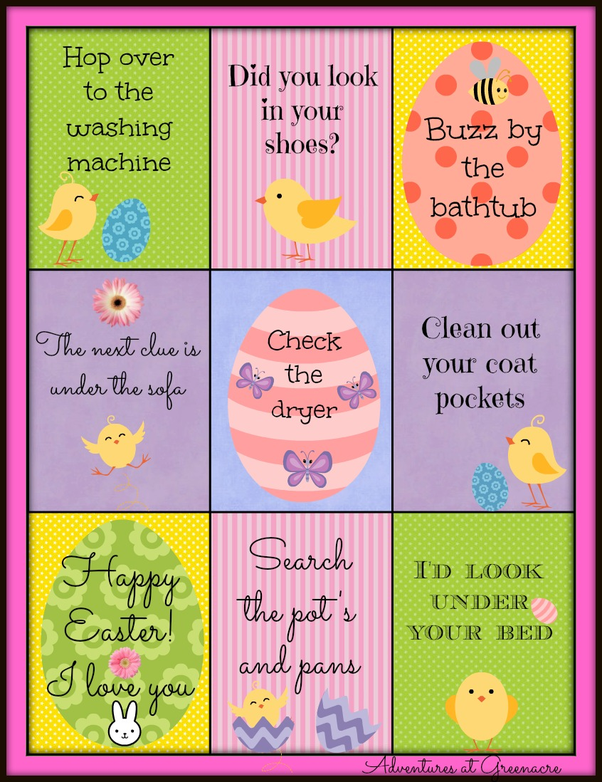 Adventures at greenacre free easter printables negle Choice Image