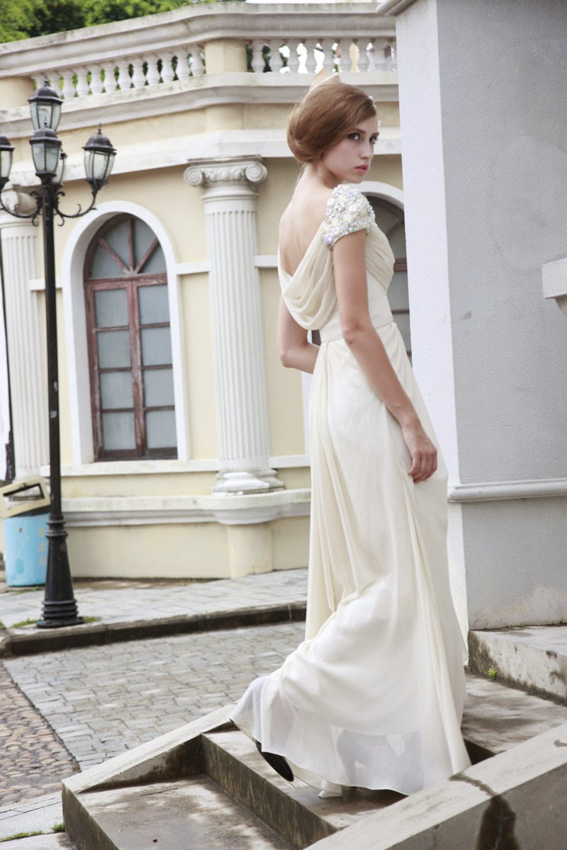 Vintage Cowl Wedding Dress: Affordable Wedding Dresses - 1920s