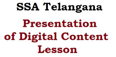 Digital Content, ssa telangana