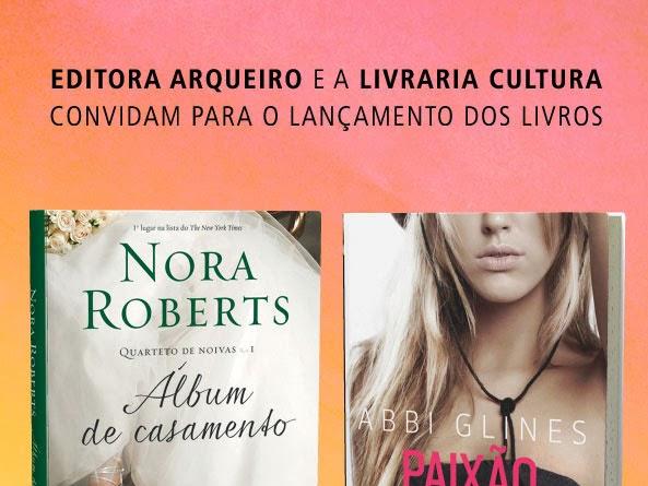 Eventos da Editora Arqueiro de lançamento dos livros Paixão Sem Limites e Álbum de Casamento em seis cidades