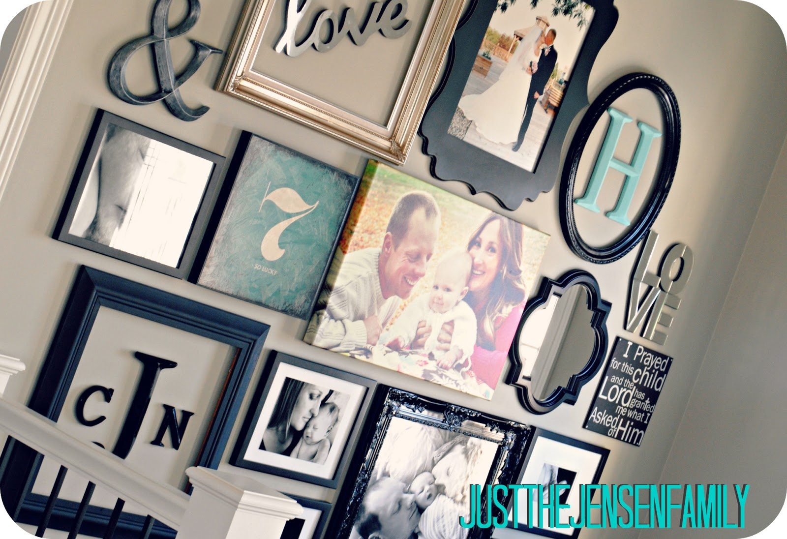 Just The Jensen Family Diy Gallery Wall