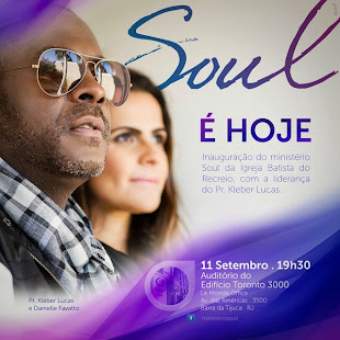 O Pastor e cantor Kleber Lucas inaugura igreja no RJ.