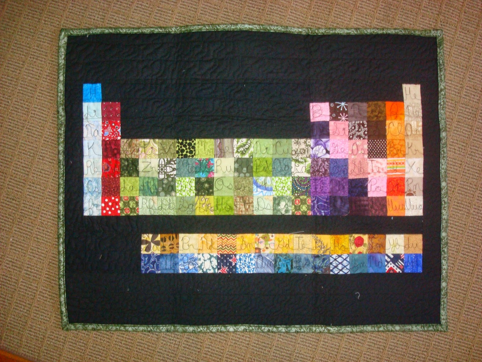 Little bunny quilts periodic table wall hanging urtaz Gallery