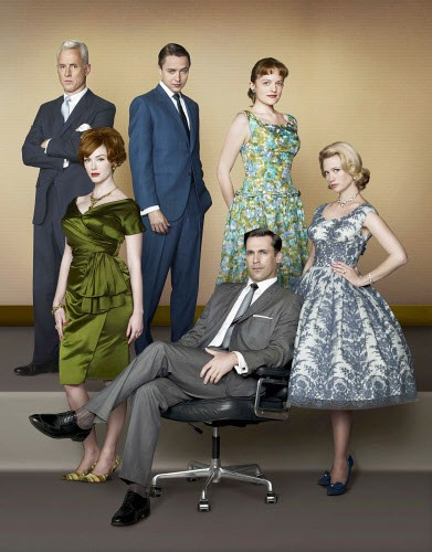 Mad Men actresses floral colorful clothes
