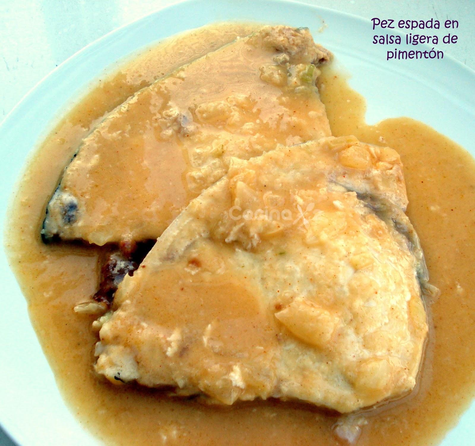 Cocinax2 las recetas de laurita pez espada con salsa for Pez espada en salsa de almendras