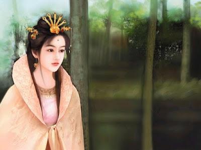 Mujer Asiática Típicos Rostros Hermosos Pintura