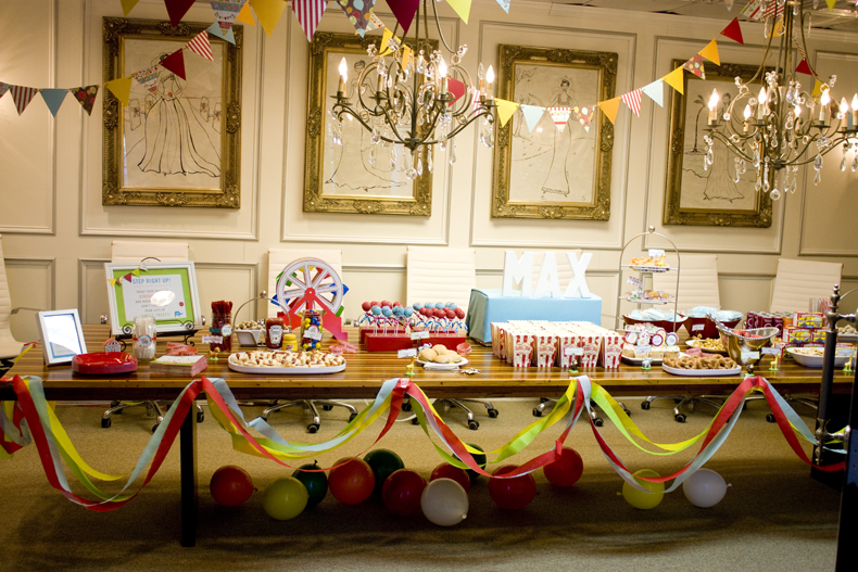 david jen max circus themed baby shower