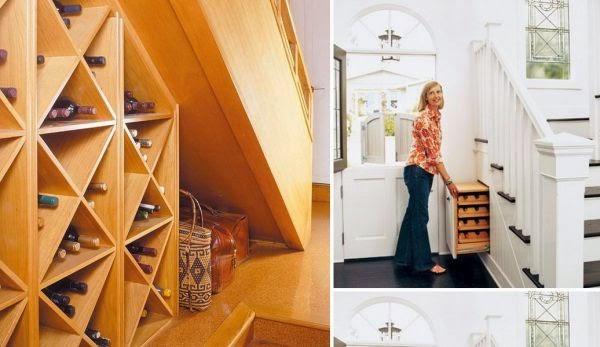 utilizacion de espacios debajo de escaleras