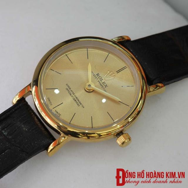 Đồng hồ nữ rolex dây da giá rẻ dưới 500 nghìn