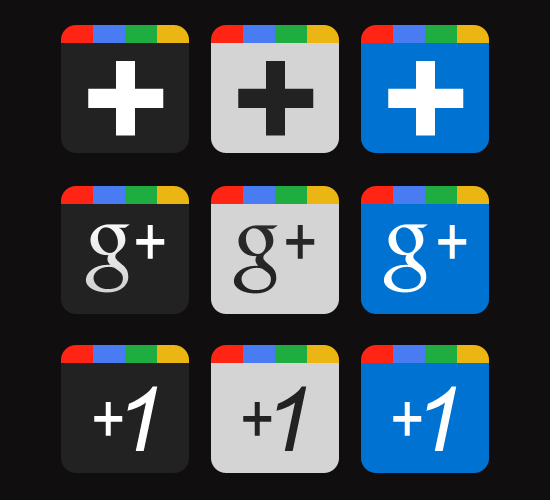 Google+ Icons Download by sendesignz