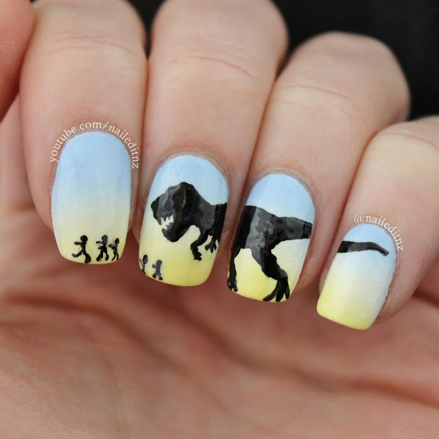 Nail Art Mash Up #3 - Minions, Harry Potter, Jurassic Park & more!