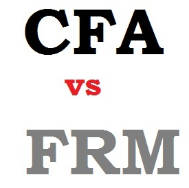CFA chartered financial analyst versus FRM financial risk manager