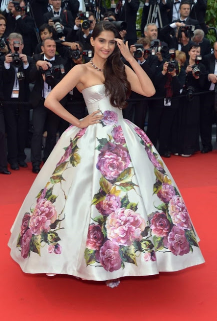 Sonam in Dolce and Gabbana gown