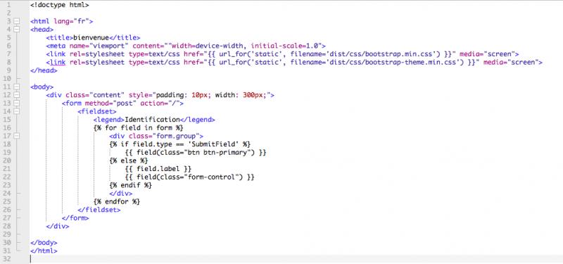 Un Joli Formulaire Python Avec Wtform Apiclock