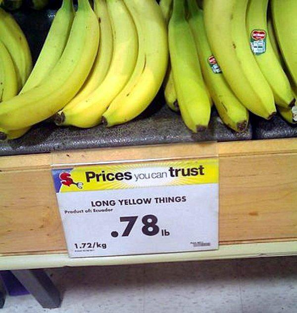 Long Yellow Things On Sale
