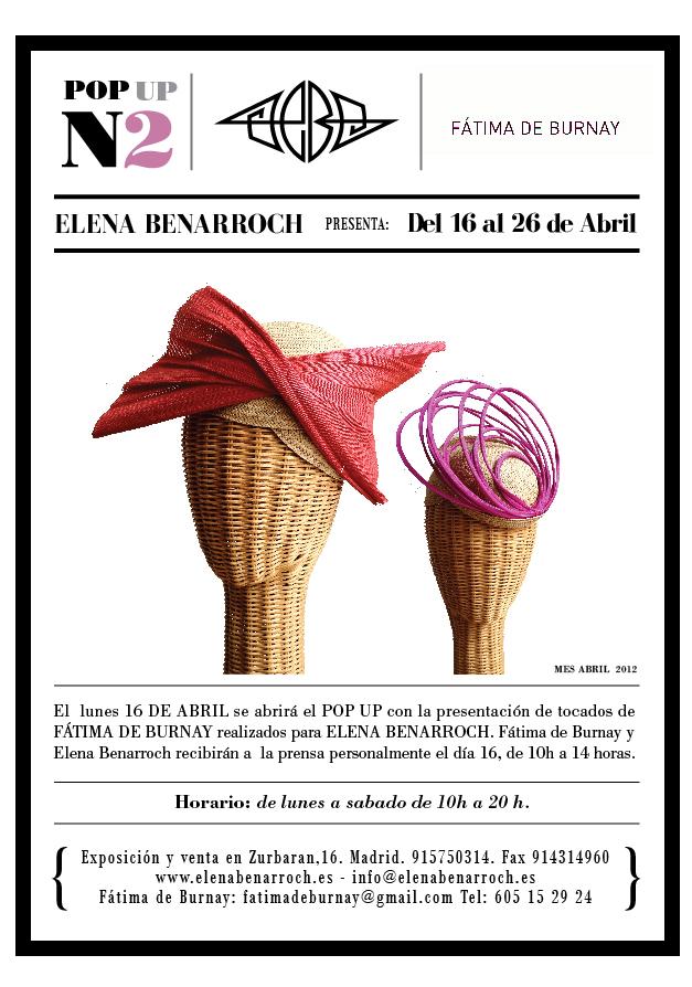 Venta Especial de Tocados de Elena Benarroch y Fátima de Burnay