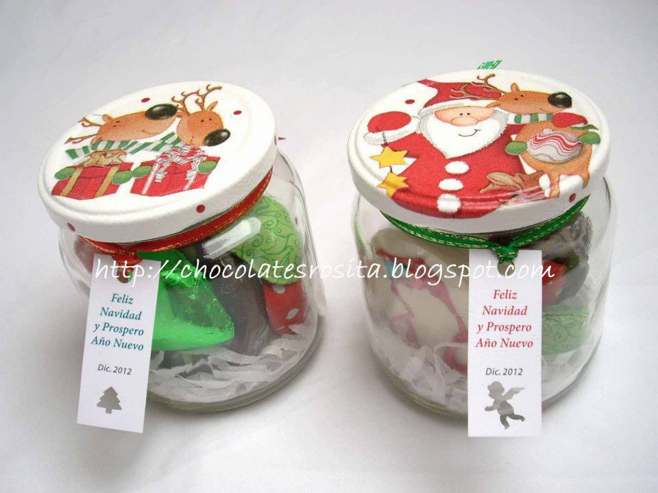 Taller ant 761 frascos dulces navide os for Frascos decorados para navidad