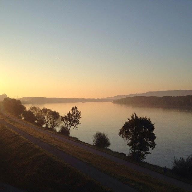 Stimmungsvolle Donau, noch in Krems © diekremserin