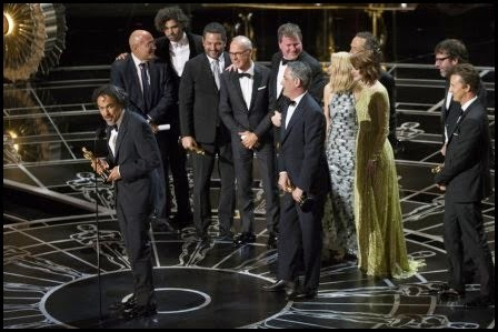 Oscars 2015: Alejando G. Iñárritu y el equipo de 'Birdman'