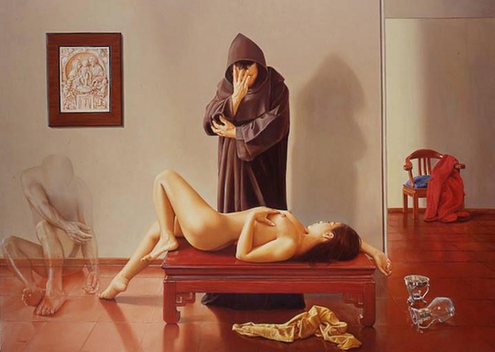 Impresionantes pinturas sobre mujeres desnudas
