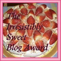 Irresistably Sweet Blog Award