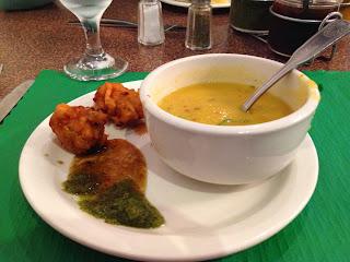 Lentil Soup & Pakoras