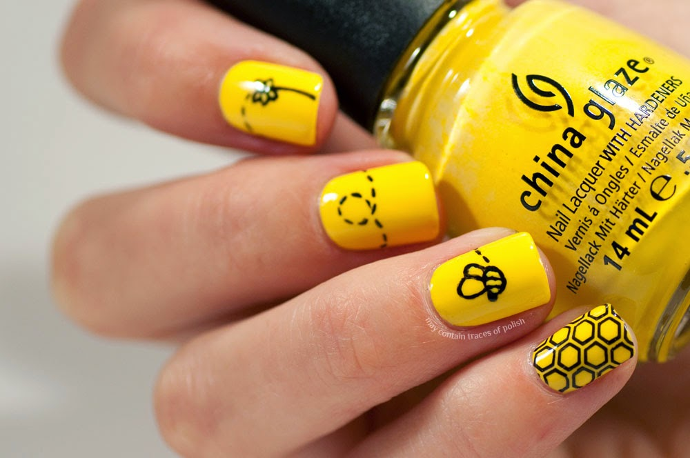 31 Day Challenge 2014: Day 3, Yellow Nails - May contain traces of ...