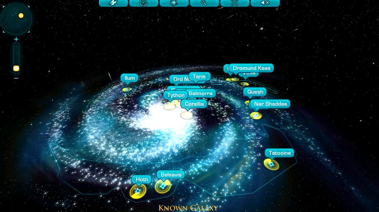 Star Wars MMO Galaxy Map SWTOR feature preview