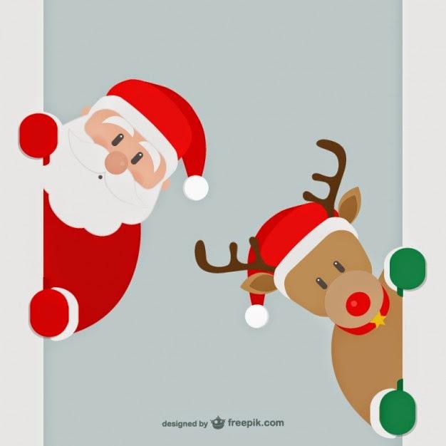 fotos, vectores, fotos gratis, vectores gratis, fotografías gratis, Santa Claus y los renos