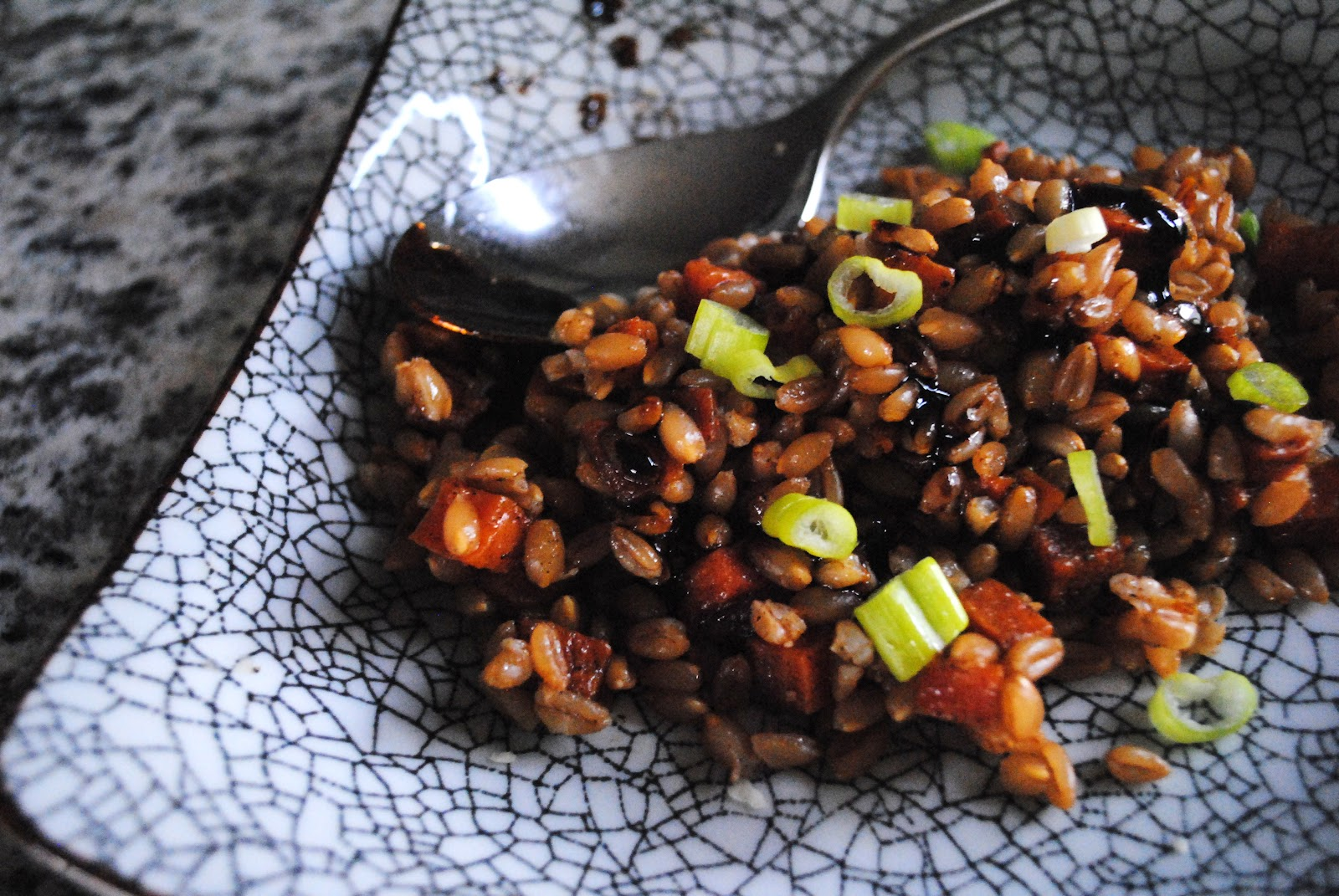 Veggies for Carnivores: Five-Spice Roasted Sweet Potato and Farro with ...