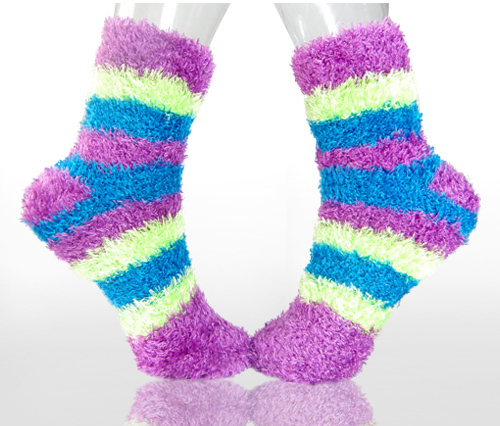You want to be completely comfy when at home, from your head down to your toes. That is why you like to kick back in the evenings and on weekends in a pair of fuzzy socks.