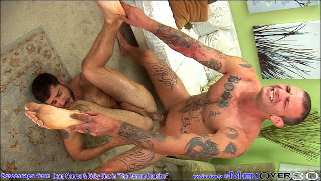 Sexy beefy models Ricky Sinz and Dean Monroe fuck