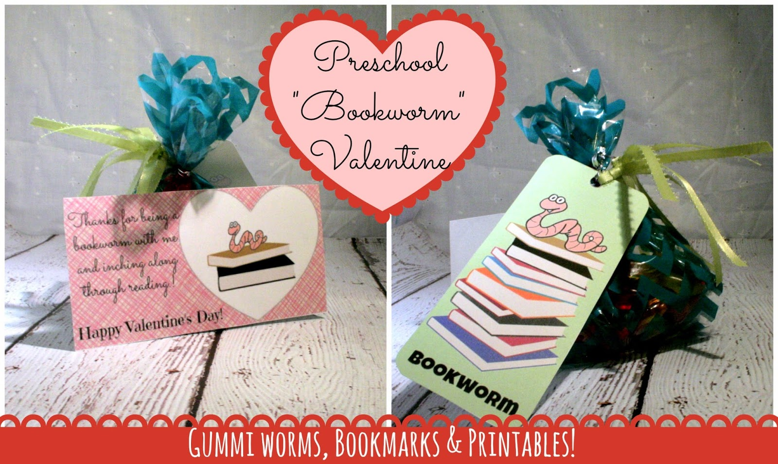 Preschool DIY Bookworm Valentines Printables We Got the FUNK – Valentine Cards Ideas for Preschoolers