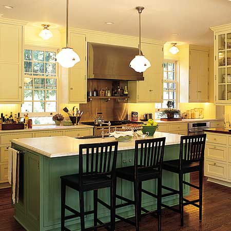 Kitchen cabinets kitchen appliances kitchen countertops kitchen island design layout - Counter island designs ...