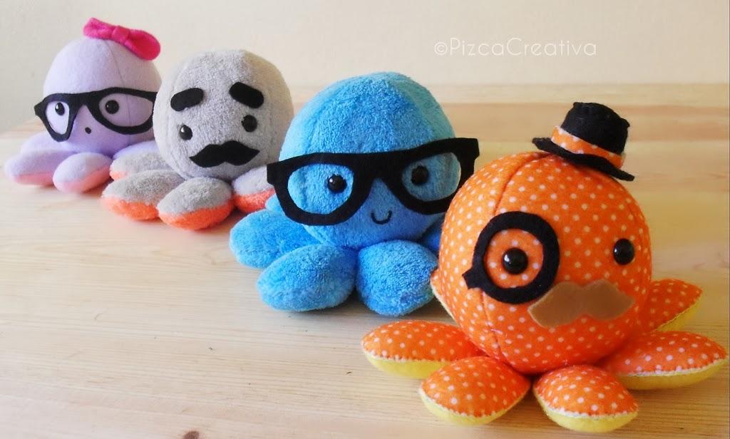 Pizca Creativa: DIY Pulpitos de Peluche *Moldes gratis