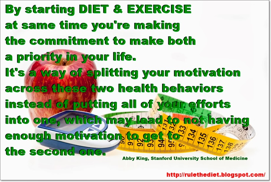 Change diet, exercise habits at same time for best results ...