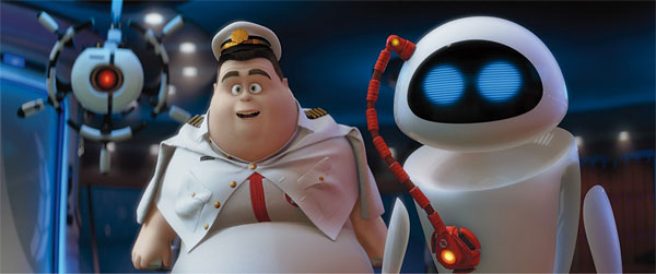 The captain in WALL-E