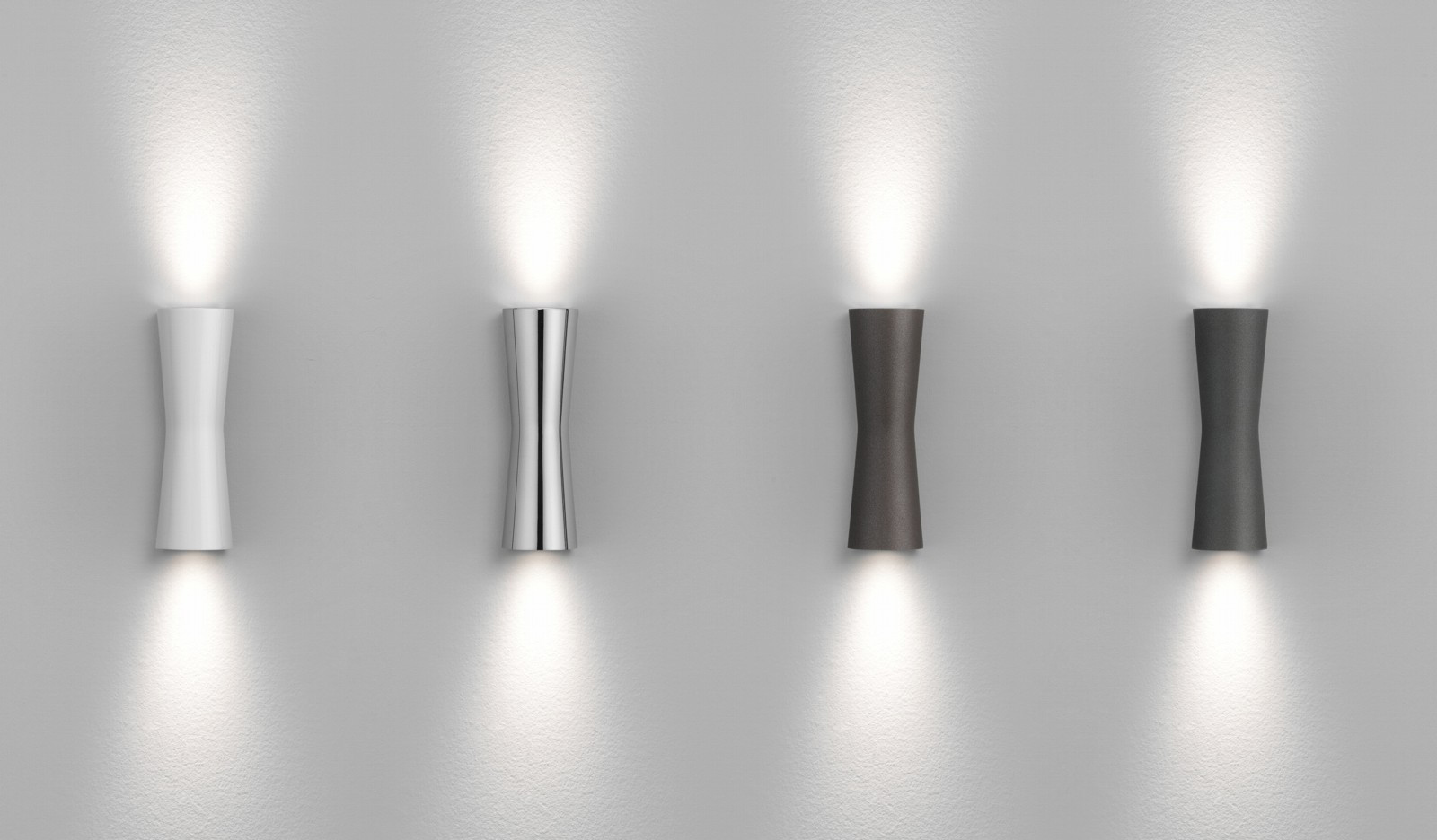 Clessidra modern up down contemporary wall spot light for for Contemporary bathroom wall sconces