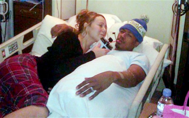 Hollywood: Mariah Carey With Her Husband Nick Cannon In