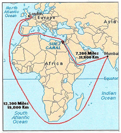 Suez Canal History, Facts, Importance, Map and New Suez ...