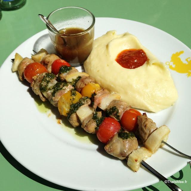 Restaurant Poulet Purée Boulogne-Billancourt thatsmee Ayelee rotissage rotisserie brochette poulet sot-l'y-laisse tomtes cerise