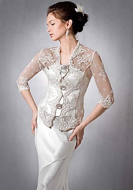Gaun Kebaya Modern Lengan Pendek Untuk Pesta | apexwallpapers.com